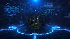 Digitaltechnik und Wissenschaftshintergrund stock footage