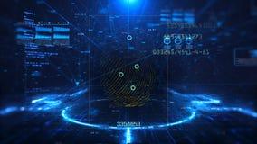 Digitaltechnik und Wissenschaftshintergrund stock video