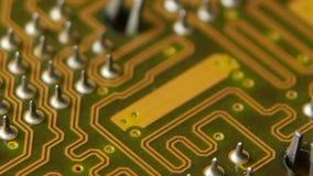 Digitaltechnikcomputer der Leiterplatte Abschluss oben stock video