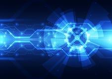 Digitaltechnikkonzept des Vektors, abstrakter Hintergrund Stockfoto