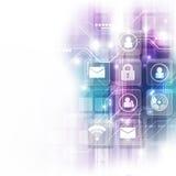Digitaltechnikschnittstelle des Vektors, abstrakter Hintergrund Stockfotos