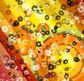 Digitaly gecreeerd abstract art. als achtergrond Stock Afbeelding
