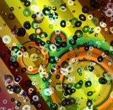 Digitaly gecreeerd abstract art. als achtergrond stock illustratie