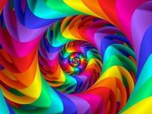 Digitas Art Abstract Rainbow Spiral Background Imagens de Stock