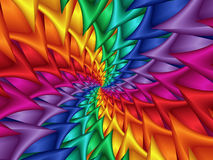 Digitas Art Abstract Rainbow Spiral Background Imagem de Stock