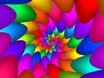 Digitas Art Abstract Rainbow Spiral Background Fotos de Stock Royalty Free