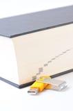 Digitas contra o papel (opinião de ângulo do dicionário) Foto de Stock