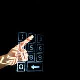 Digiti il codice segreto Immagini Stock Libere da Diritti