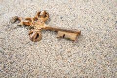 Digiti la sabbia fotografia stock
