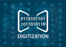Digitization concept  illustration. Digital background Royalty Free Stock Images