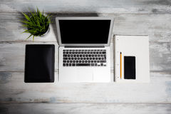 Digitized working space for office Royalty Free Stock Image