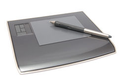 Digitizer with pen Stock Image
