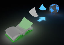 Digitizing book concept Royalty Free Stock Image