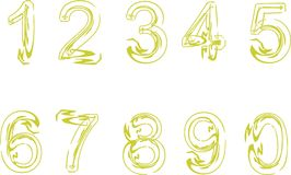 Digits. Series of digits usefull to compose complete numbers in counters or signals or other counting duties Royalty Free Stock Photos