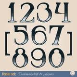 Digits of the alphabet Stock Photo