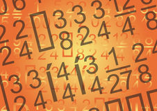 Digits background - vector Royalty Free Stock Photo