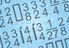 Digits background - vector Stock Photo