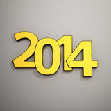 Digits 2014. Big golden digits of new year 2014 Royalty Free Stock Photography