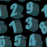 Digits on black background.  Vector seamless pattern Stock Photo