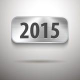 2015 digits on brushed metal tablet. Calendar 2015 digits on brushed metal tablet. Vector illustration Stock Photos