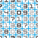 Digits and crosses seamless pattern Royalty Free Stock Image