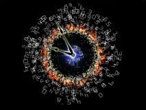 Digits der Zeit lizenzfreie abbildung