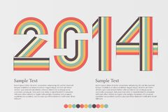 Digits design. Creative happy new year 2014 design, eps10  background Royalty Free Stock Image