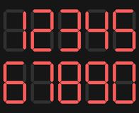 Digits Display. Electronic figures. The dial calculator Numbers. vector vector illustration