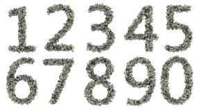 Digits  from dollars. Digits  from dollars isolate on white background Stock Photography