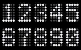 Digits für Matrixbildschirmanzeige. lizenzfreie abbildung