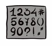 Digits. hand drawn. Vector design. Eps8 Royalty Free Stock Images
