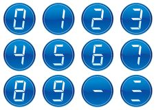 Digits icons set. Royalty Free Stock Photography