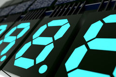 Digits indicator Royalty Free Stock Images