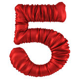 Digits. Made of red fabric. Isolated on white. 3D illustration vector illustration