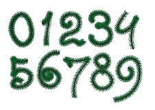 Digits from pine Royalty Free Stock Images