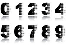 Digits set. Royalty Free Stock Photos