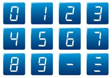 Digits square icons set. Stock Image