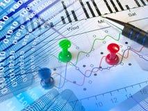 Digits, Stifte und Gebäude lizenzfreie stockfotos