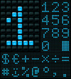 Digits and Symbols. Dot matrix display with digits and symbols Stock Illustration