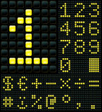 Digits and Symbols. Dot matrix display with digits and symbols Stock Photography