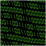 0,1 digits vector wallpaper. Green Binary code on black background. Digital matrix abstract technology illustration. Stock Photos