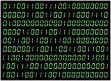 0,1 digits vector wallpaper. Green Binary code on black background. Digital matrix abstract technology illustration. 0,1 digits vector wallpaper. Green Binary Royalty Free Stock Photography