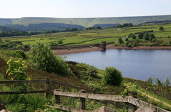 Digley Reservoir. Is situated near Holme Bridge on the moorland edge surrounded by farmland. Nearby is Holmfirth in west Yorkshire England, home of the popular Stock Photography