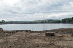 Digley Reservoir. Reserves are rather low during the warm summer months Stock Image