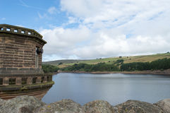 Digley Reservoir. View across digley reservoir near Holmfirth, west yorkshire from behind the tower Stock Photos