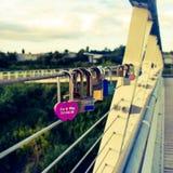 Diglis bridge padlocks royalty free stock photos