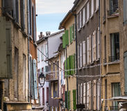 Digne-les-Bains. (Alpes-de-Haute-Provence, Provence-Alpes-Cote d'Azur, France). Old typical street royalty free stock images