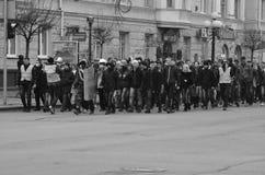Dignidad Ucrania Lutsk de la revolución Fotografía de archivo libre de regalías