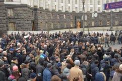 Dignidade março na capital ucraniana Fotos de Stock Royalty Free