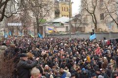 Dignidade março na capital ucraniana Foto de Stock